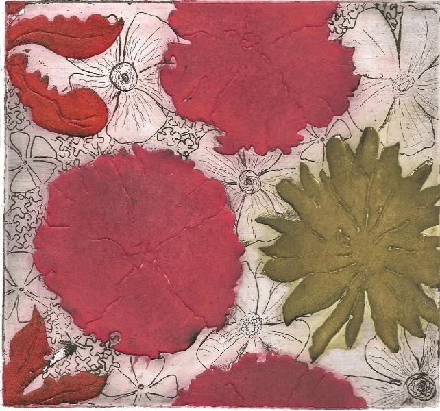 Hibiscus, 2012. Aguatinta al azúcar
