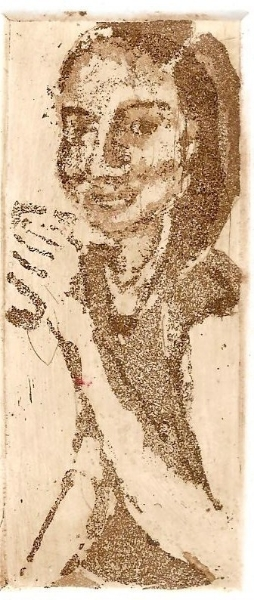 Liz, 2012. Aguatinta al azúcar