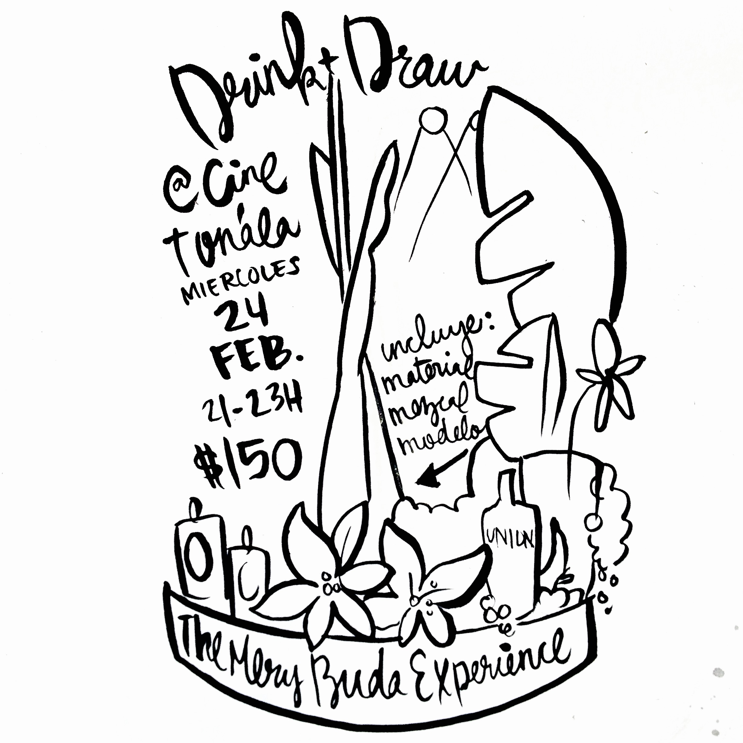 2016.02febrero.24 drink and draw